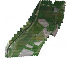 luchtfoto drone hoogwatergeul Veessen Wapenveld orthomozaiek
